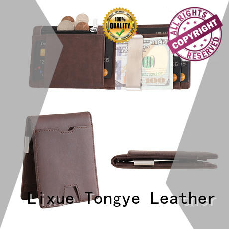 LITONG thin genuine leather money clip dropshipping for business