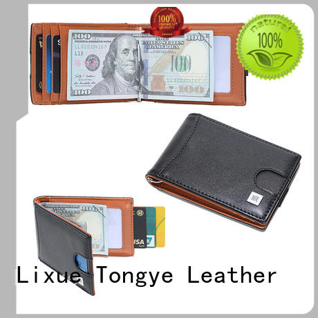 fashion best leather money clip oem owner for business