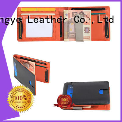 LITONG durable mens leather money clip supplier for travel