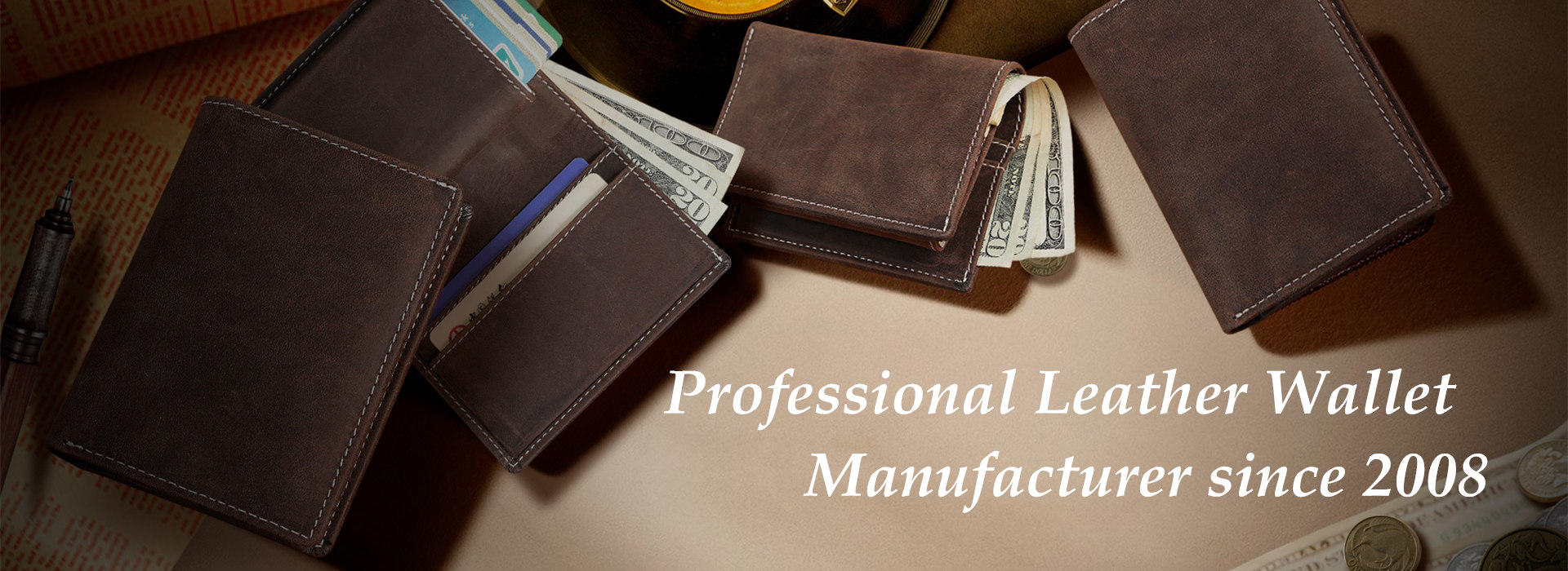 Leather Wallet Wholesale, Handmade Leather Wallet supplier
