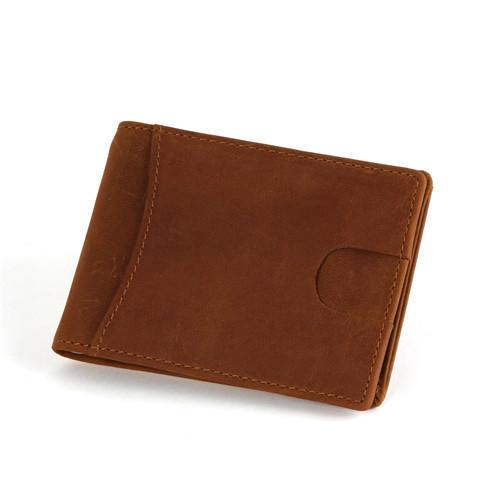 Men's Slim Minimalist Front Pocket RFID Blocking Leather Wallets  LT-BMM017