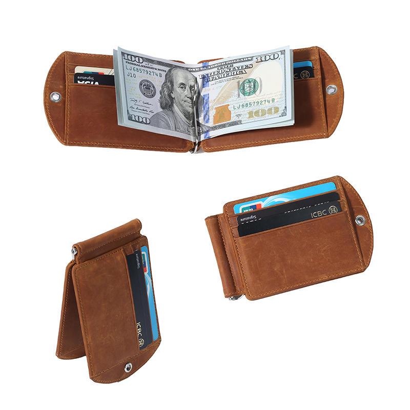Money clip rfid wallet slim case minimalist wallet for men LT-BMM020