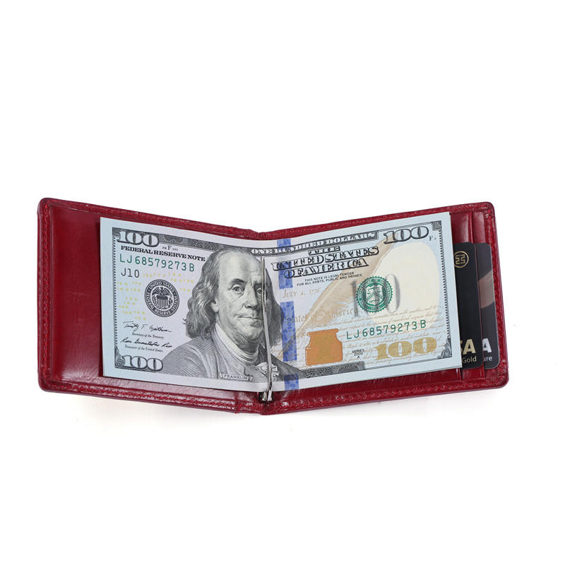 Minimalist Slim Bifold Front Pocket Wallet with Money Clip for men LT-BMM021