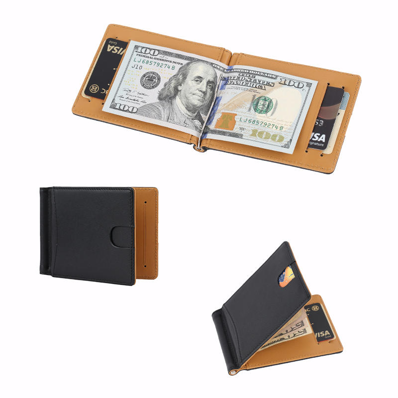 Business Leather Card Holder Wallet Slim RFID Leather Wallet Factory LT-BMM023