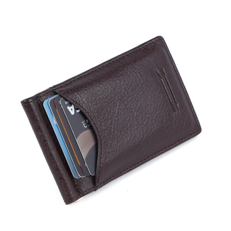 Minimalist Slim Bifold Front Pocket Wallet with Money Clip for men LT-BMM029