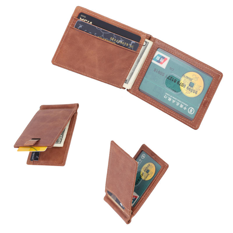 Minimalist & Slim Bifold Front Pocket Money Clip Wallet  LT-BMM031