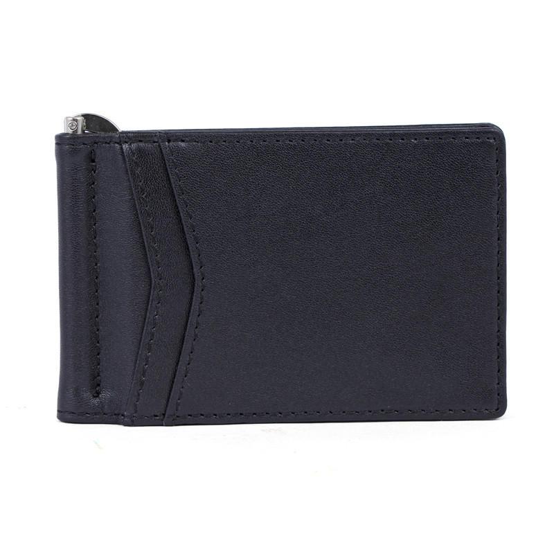 Slim Wallet for Men Money Clip RFID Blocking Bifold Grain Leather Front Pocket Wallet LT-BMM030
