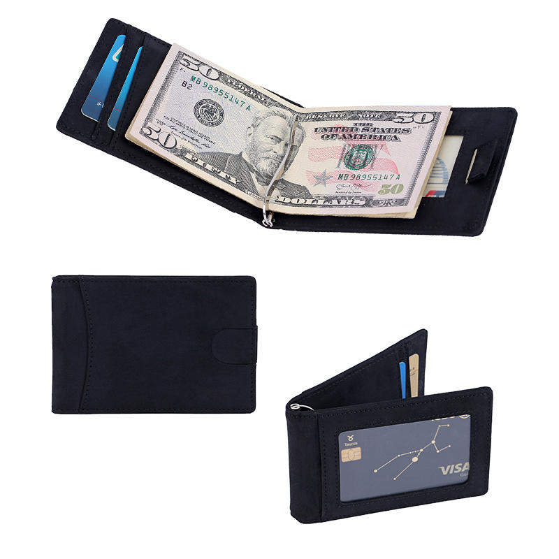 Money Clip RFID Blocking Bifold Slim Leather Front Pocket Wallet LT-BMM032