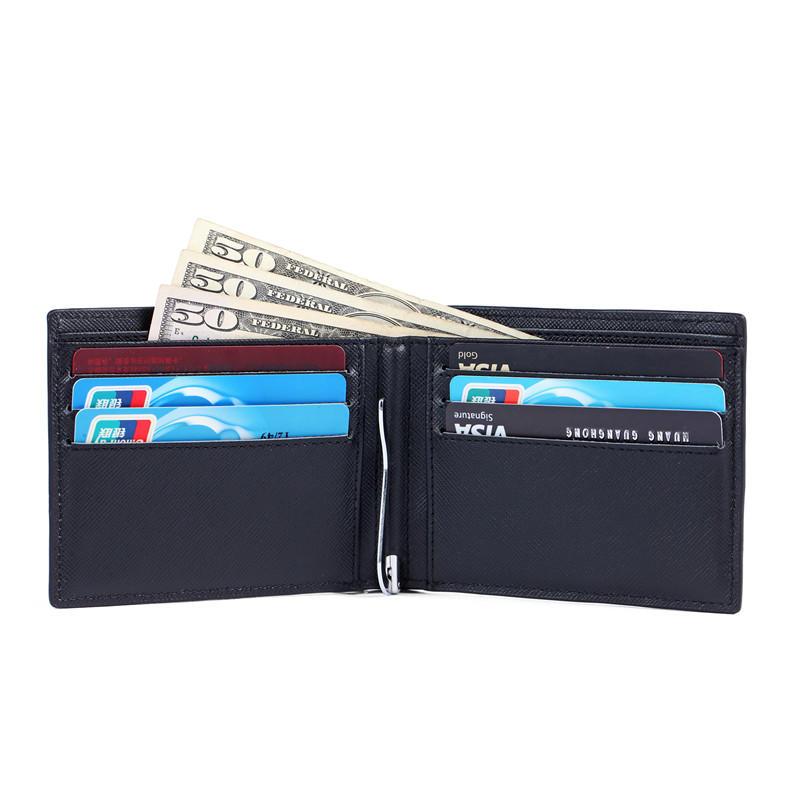 RFID slim money clip wallet Leather bifold Thin credit card wallet LT-BMM034