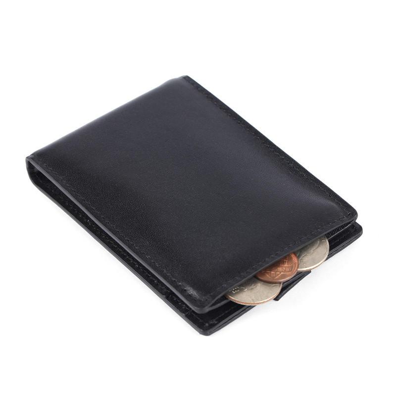 Wholesale Leather Money Clip Wallet Black Rfid Slim Mens Wallet LT-BMM036