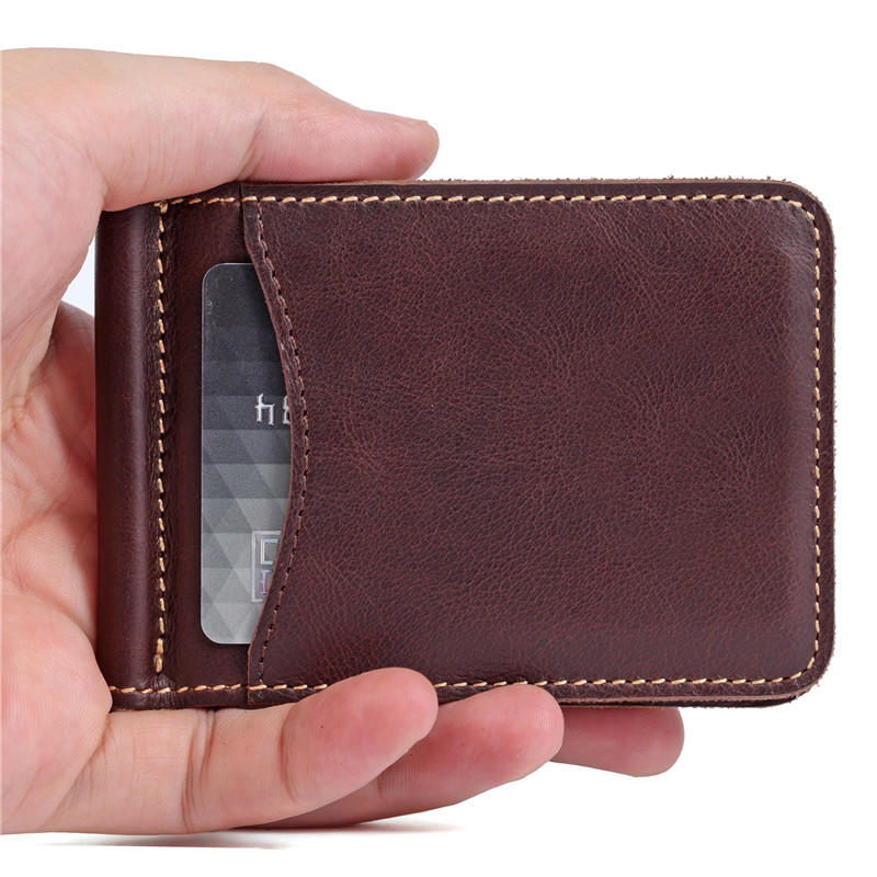 Minimalist Slim Bifold Front Pocket Money Clip Mens Wallet LT-BMM037