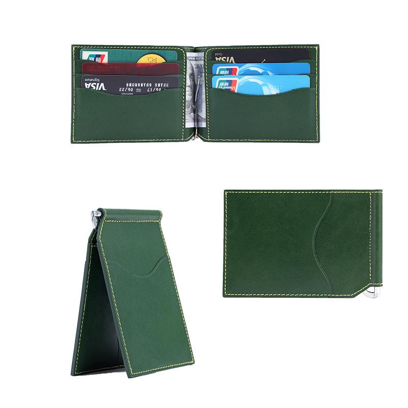 Leather Money Clip Wallet Vegetable tanned leather mens wallet LT-BMM038