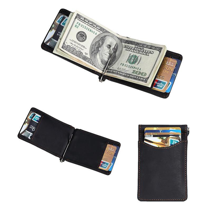 Wholesale RFID Blocking Slim Minimalist Front Pocket Money Clip Wallet LT-BMM040