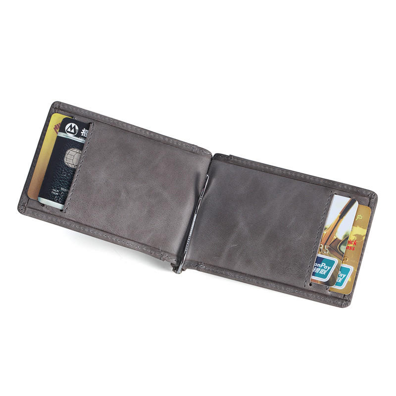 RFID Slim Minimalist Front Pocket Wallet Vintage Leather Wallet LT-BMM042