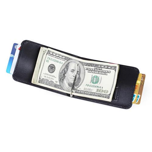 RFID Blocking Cowhide Leather Wallet for Men SIM Leather Money Clip Wallet LT-BMM045