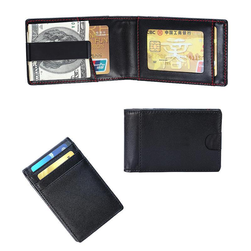 ODM/OEM Leather Magnetic Front Pocket Money Clip Wallet RFID Slim Wallet LT-BMM048