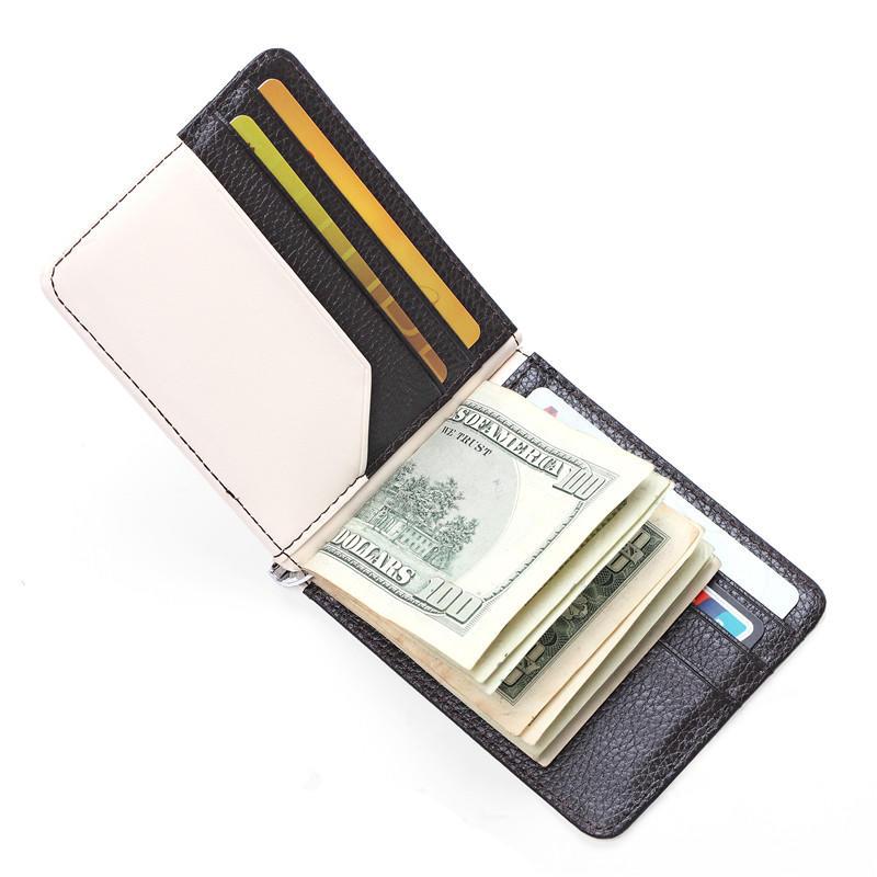 Leather Wallet For Wholesale New Arrival Fashion Design Men Genuine Leather Money Clip LT-BMM051