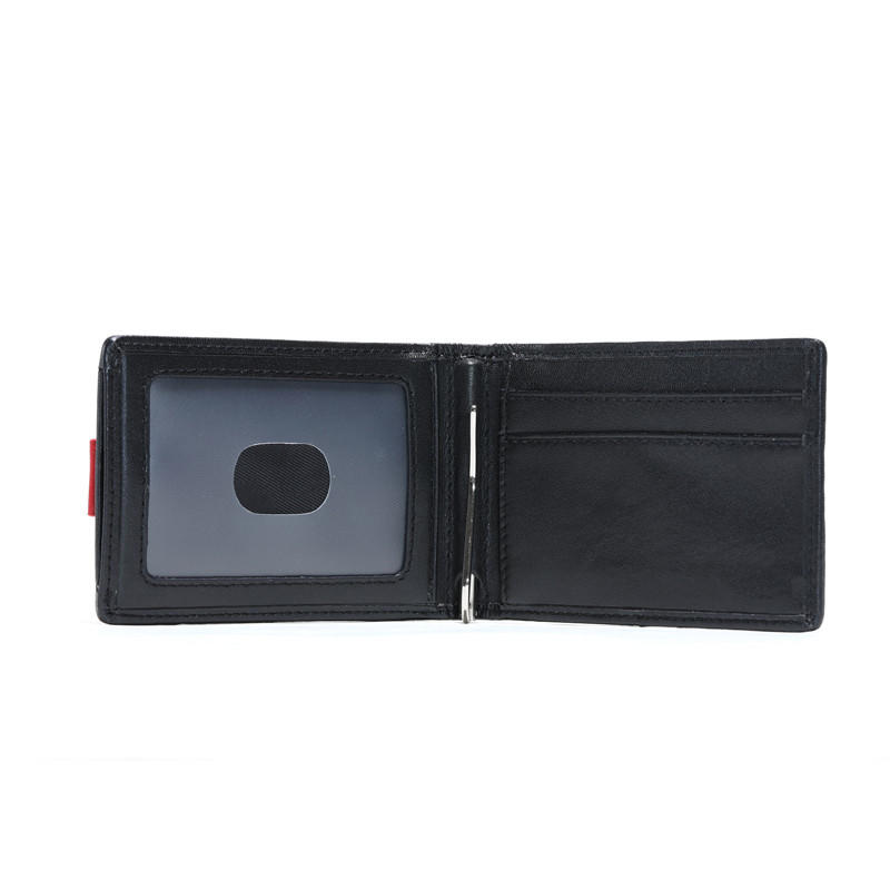 Genuine Leather Wallet Front Pocket RFID Money Clip Wallet With ID window LT-BMM056