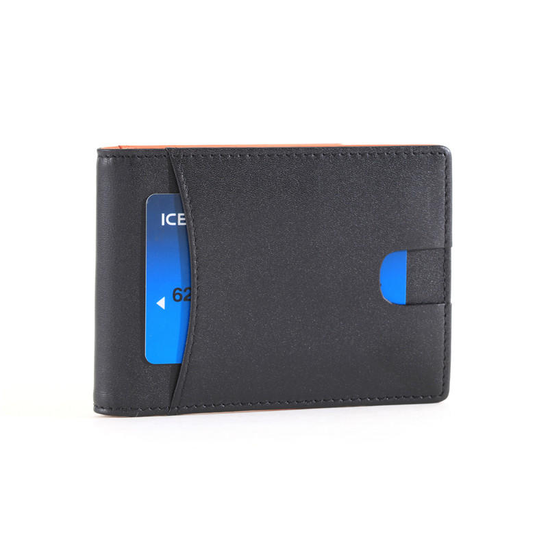 Slim Money Clip Wallet RFID Card Mini Bifold Leather Wallet LT-BMM057
