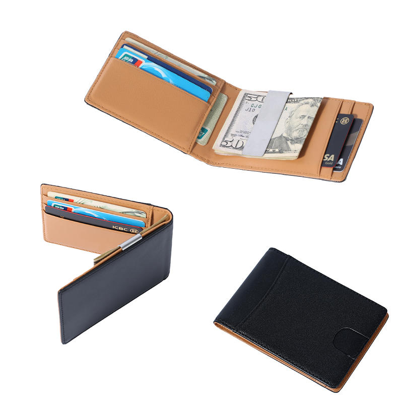 slim Front Pocket RFID Blocking Card Holder Minimalist Mini Bifold Money Clip Wallet LT-BMM058