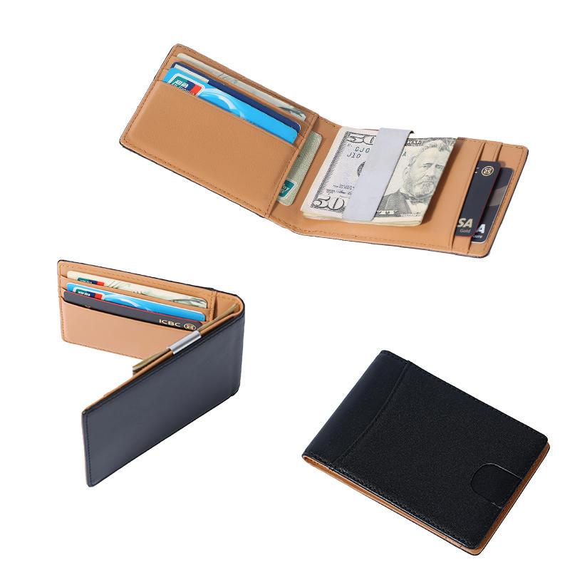 slim Front Pocket RFID Blocking Card Holder Minimalist Mini Bifold Money Clip Wallet LT-BMM058