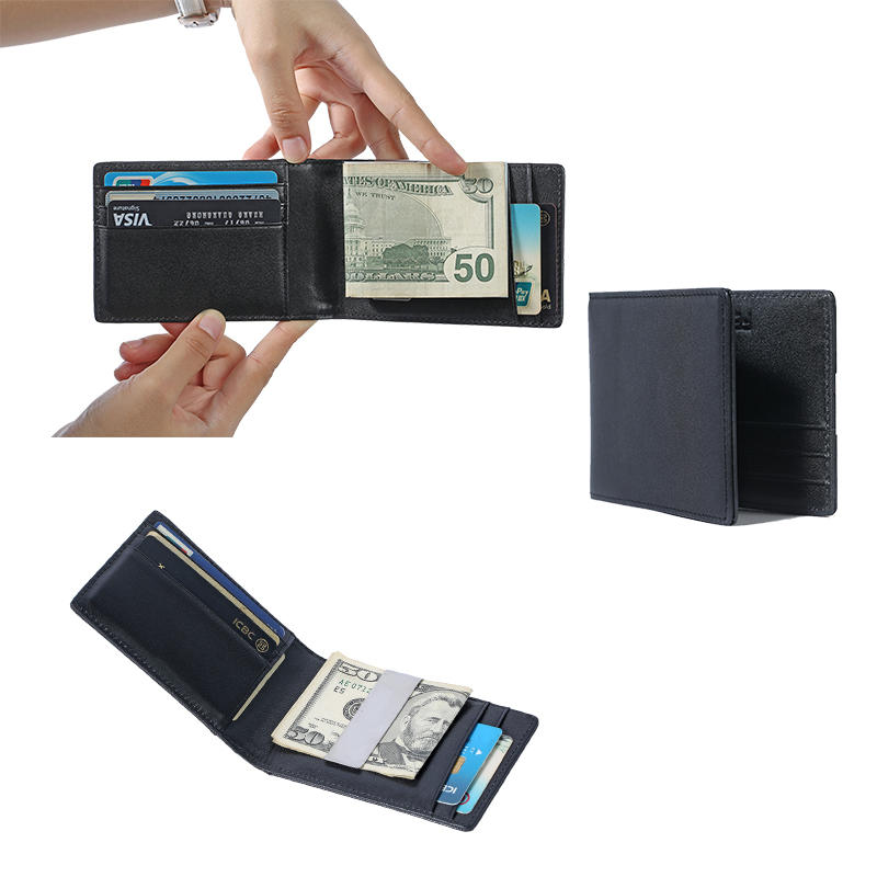 Money Clip Wallet for Men Slim Front Pocket RFID Blocking Card Holder Minimalist Bifold Wallet LT-BMM059