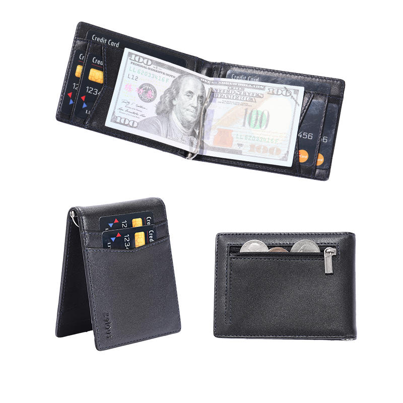 Front Card Holder Wallet for Men Genuine Cowhide Leather with RFID Blocking LT-BMM064
