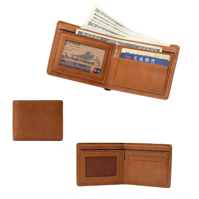 Fashion Men Slim RFID Genuine Leather Bifold Credit Card Holder Wallet LT-BMW009