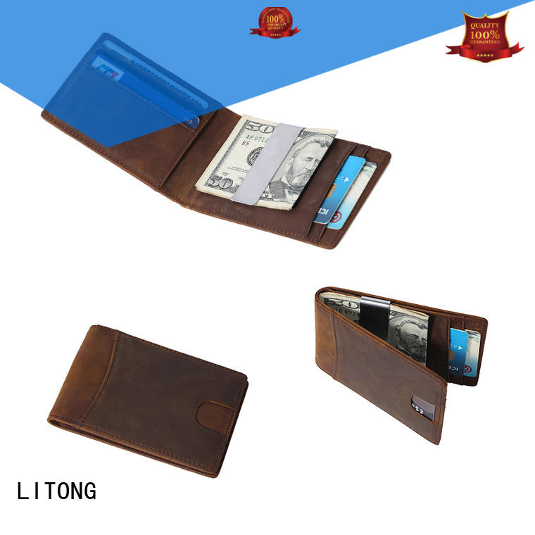 multi-function custom money clip wallet id producer for promotional gift