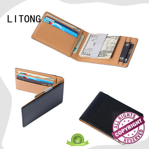 LITONG multi-function custom money clip wallet certification for daily life