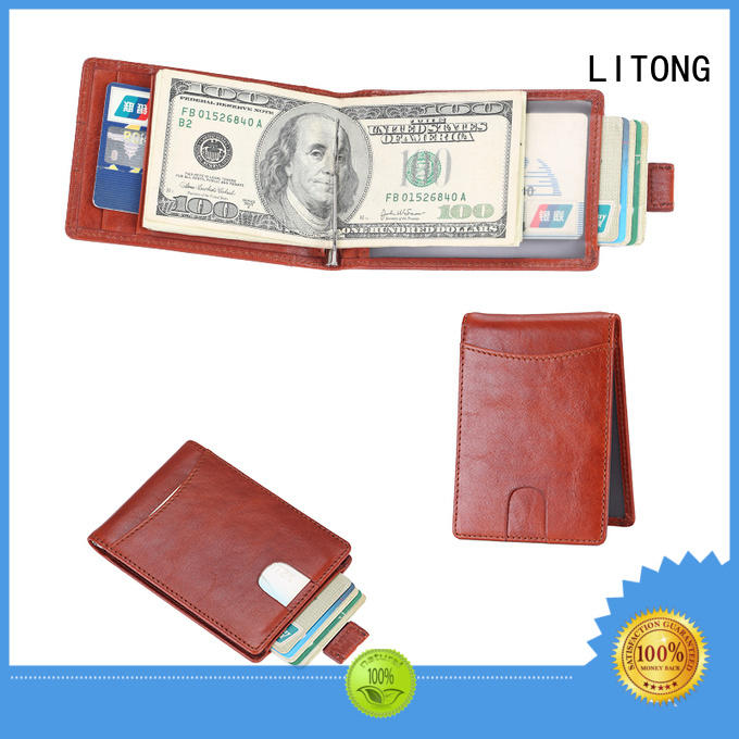 good-looking custom leather money clip blocking dropshipping for festival gift