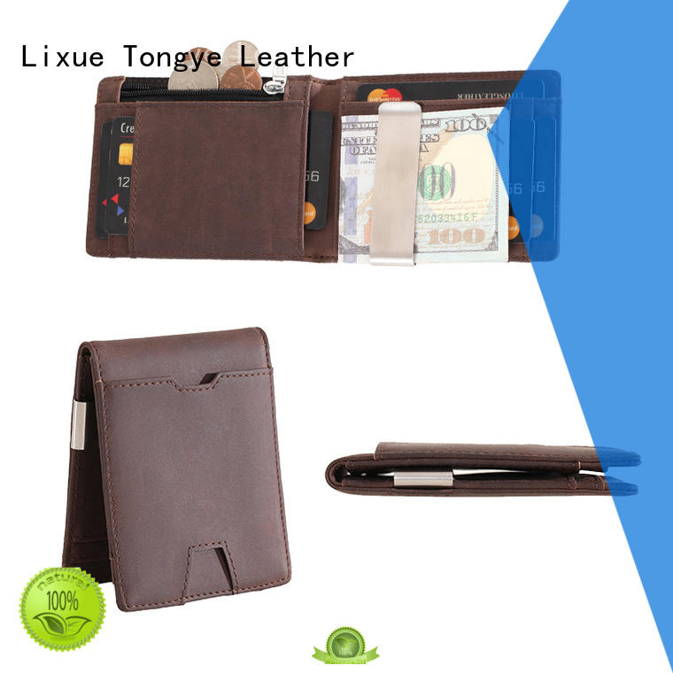 multi-function leather money clip card case ltbmm001 wholesale for promotional gift