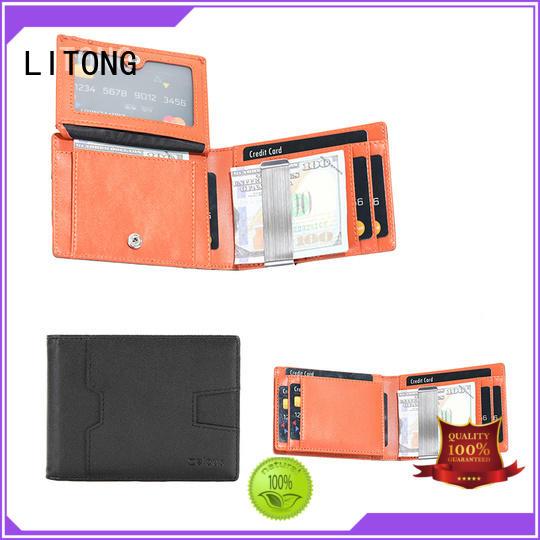 super slim leather money clip card case ltbmm051 wholesale for promotional gift