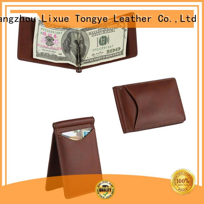 light leather money clip card case biford owner for travel