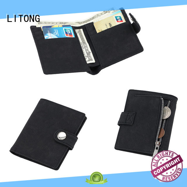 LITONG credit leather travel wallet supplier for cash