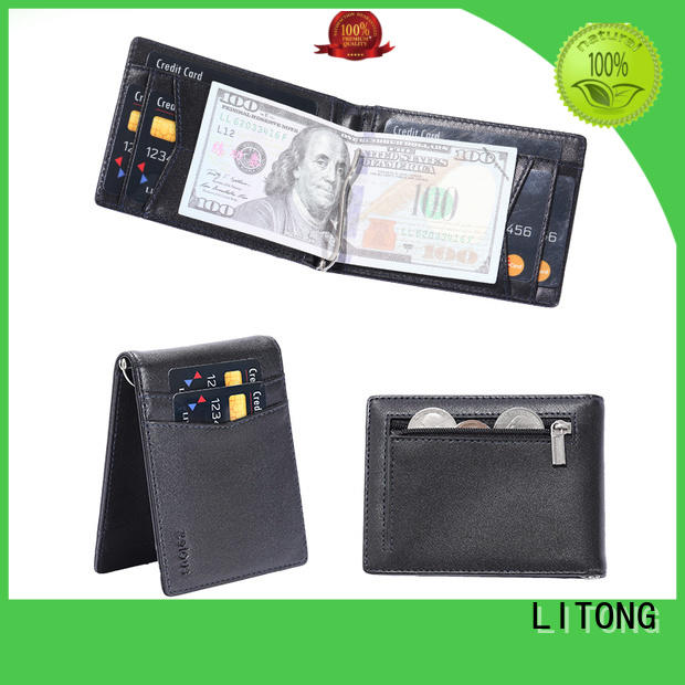 LITONG ltbmm015 mens leather money clip supplier for business