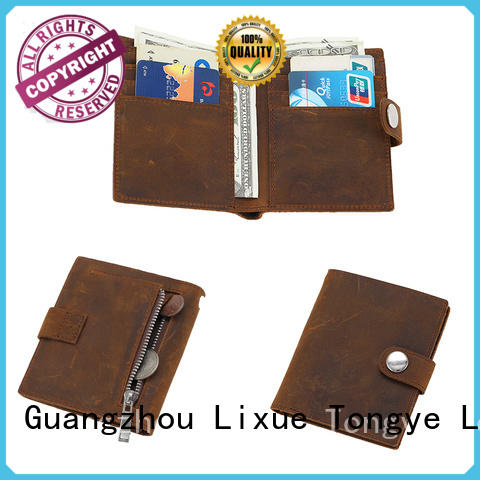 LITONG high quality personalized leather wallet daily used for card