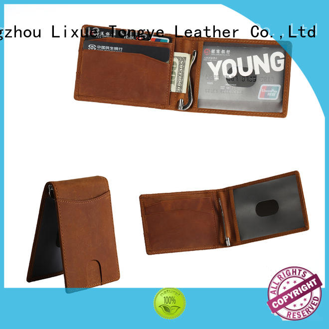 LITONG ltbmm031 custom leather money clip owner for business