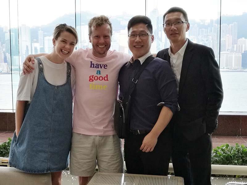 Alan And His Wife Came To China Plan Notebook Orders And Travel