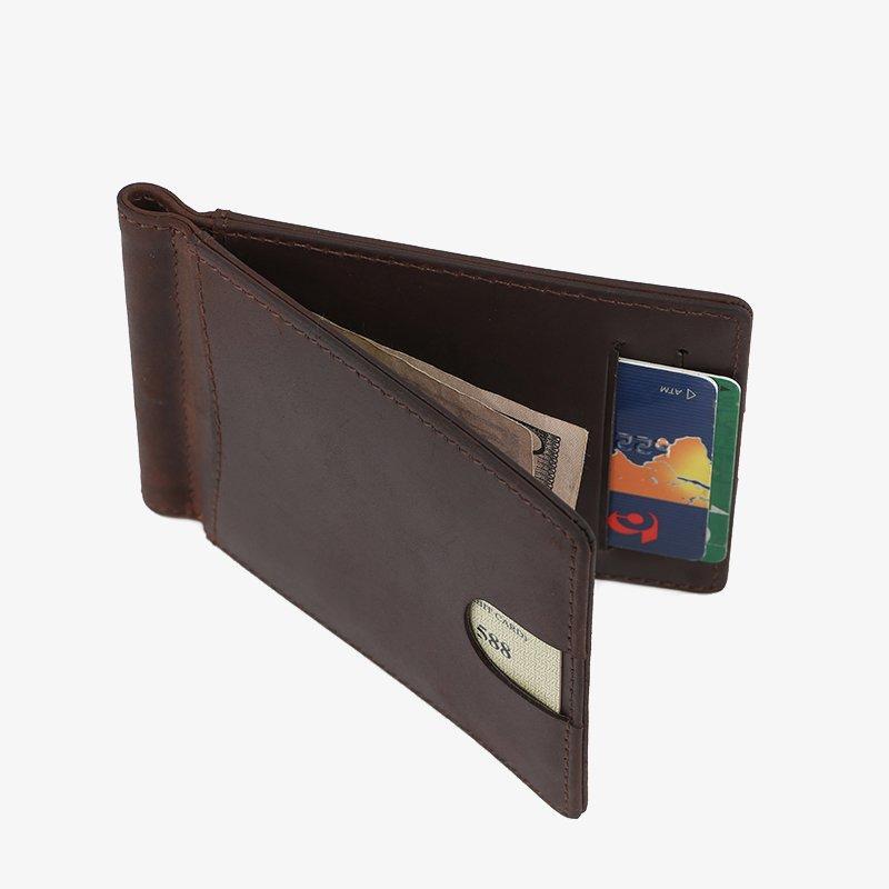 Hot black leather wallet genuine LITONG Brand genuine  elegant design