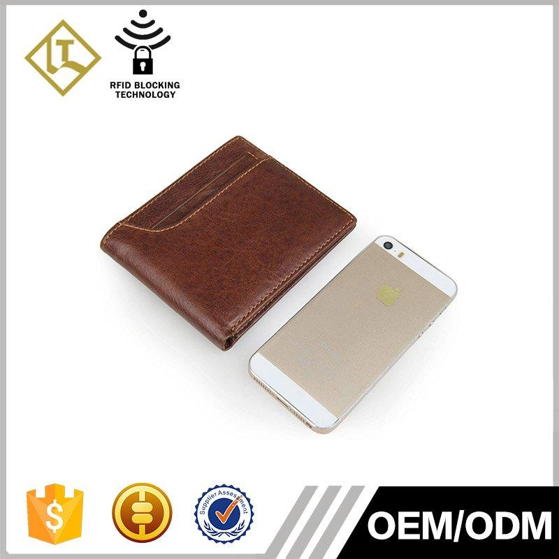 Hot holder leather travel wallet credit clip LITONG Brand