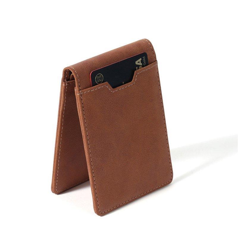 minimalist RFID blocking men's genuine leather wallet LT-BMW020