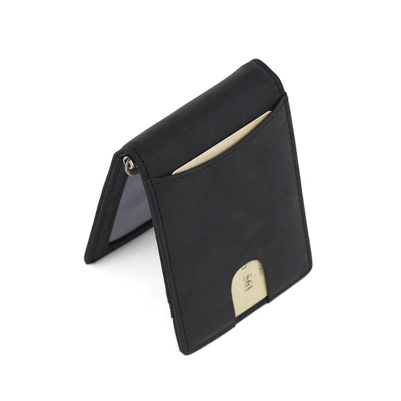 RFID custom leather money clip Wallet slim biford wallet Factory LT-BMM027