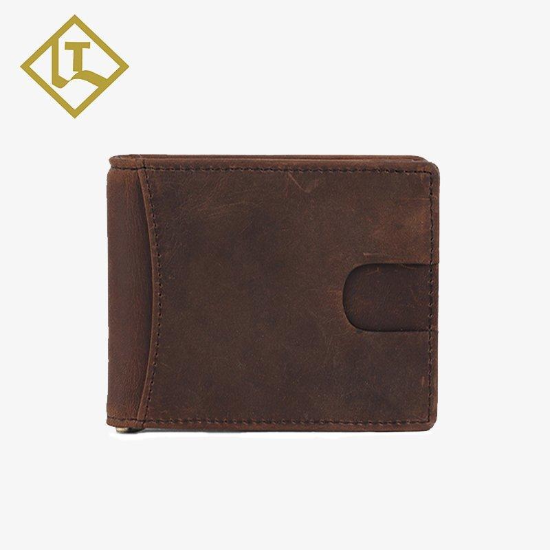 LITONG Brand slim horse oem money leather money clip