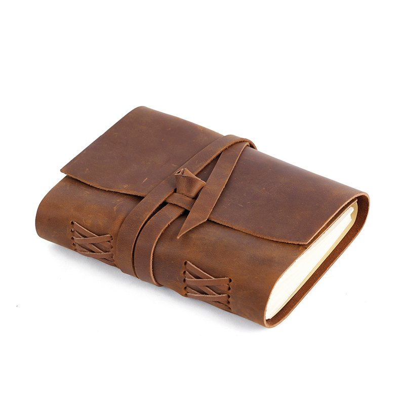 LITONG Handmade vintage travel Daily leather journal wholesale Custom leather notebook LT-LJ003 Leather Journals image3