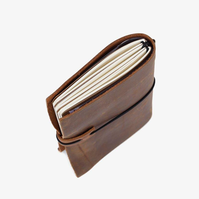 LITONG Brand small clip leather notebook manufacture