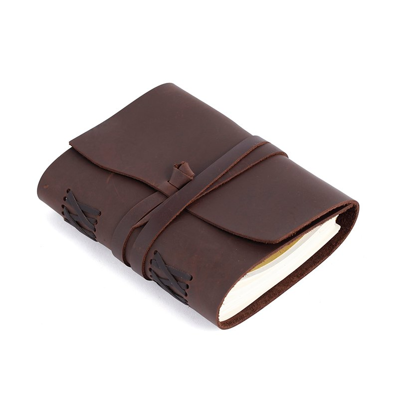LITONG Handmade vintage leather travel Daily journal paper Custom business notebook leather LT-LJ004 Leather Journals image2