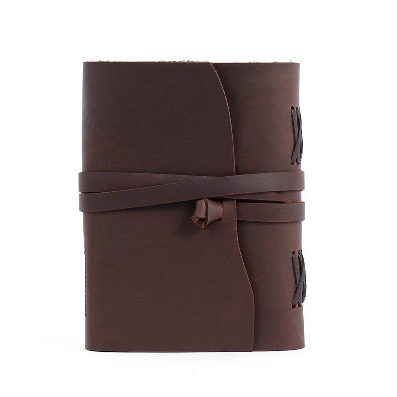 Handmade vintage leather travel Daily journal paper Custom business notebook leather  LT-BMJ017