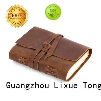 LITONG Brand travel format leather leather notebook manufacture