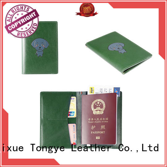 LITONG mens real leather passport holder factory price for credit cards